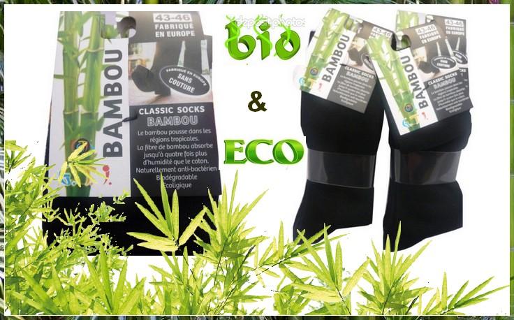 chaussette bambou bio et eco
