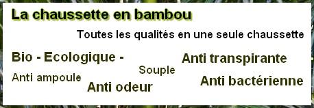 chaussette en bambou
